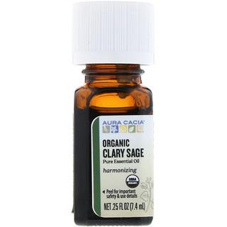 Aura Cacia, Organic Clary Sage, .25 fl oz (7.4 ml)
