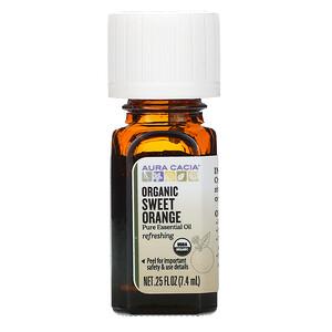 Аура Кация, Pure Essential Oil, Organic Sweet Orange, .25 fl oz (7.4 ml) отзывы