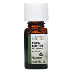 Аура Кация, Pure Essential Oil, Organic Grapefruit, .25 fl oz (7.4 ml) отзывы