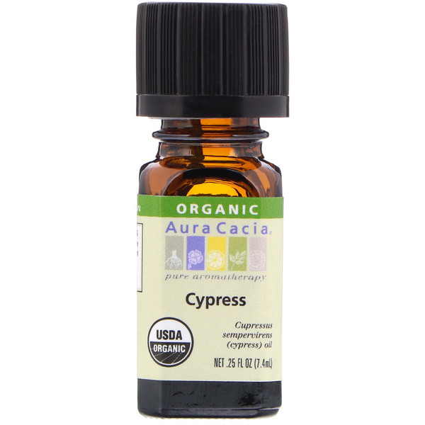 Organic, Cypress, 0.25 fl oz (7.4 ml)