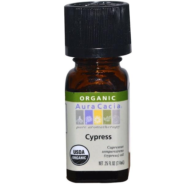 Aura Cacia, Organic, Cypress, 0.25 fl oz (7.4 ml)