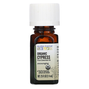 Аура Кация, Pure Essential Oil, Organic Cypress, .25 fl oz (7.4 ml) отзывы покупателей