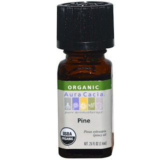 Aura Cacia, Organic, Pine, .25 fl oz (7.4 ml)