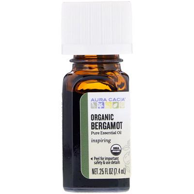 Купить Чистое эфирное масло, органический бергамот, 7, 4мл (0, 25жидк.унции)