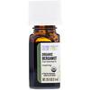 Aura Cacia, Pure Essential Oil, Organic Bergamot, .25 fl oz (7.4 ml)