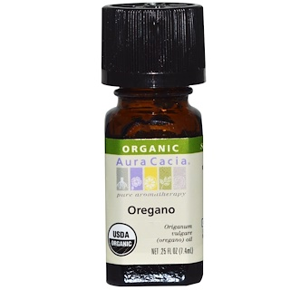 Aura Cacia, Organic, Oregano, .25 fl oz (7.4 ml)