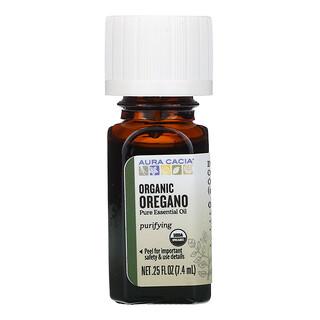 Aura Cacia, Pure Essential Oil, Organic Oregano, 0.25 fl oz (7.4 ml)