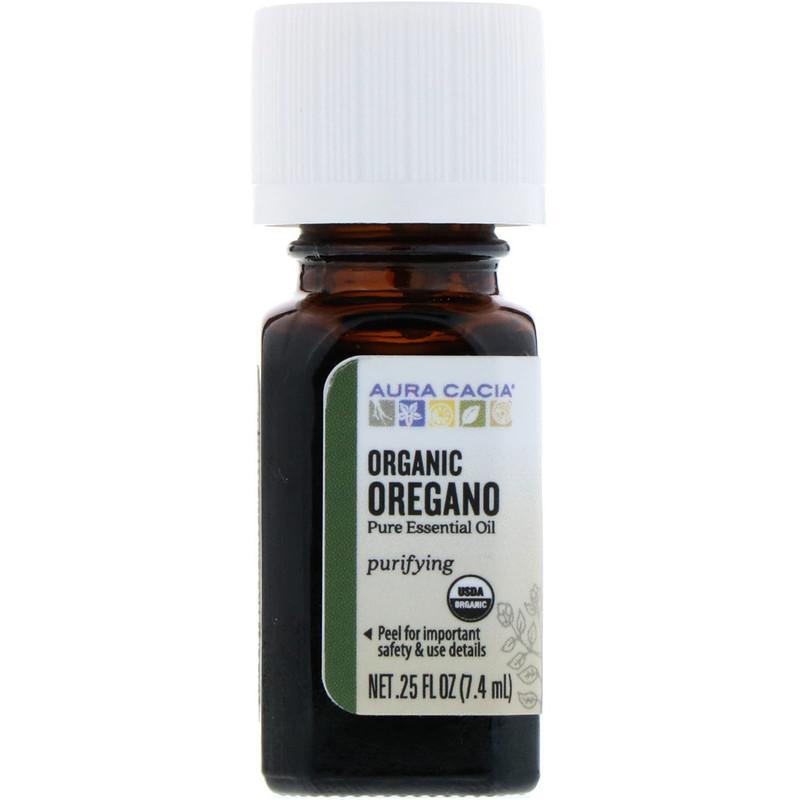 Aura Cacia, Organic Oregano, .25 fl oz (7.4 ml)