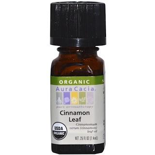 Aura Cacia, Organic, Cinnamon Leaf, .25 fl oz (7.4 ml)
