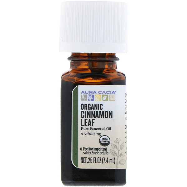 Aura Cacia, Organic, Cinnamon Leaf, .25 fl oz (7.4 ml) (Discontinued Item)