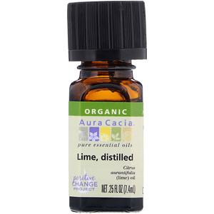 Аура Кация, Organic, Pure Essential Oils, Lime, Distilled, .25 fl oz (7.4 ml) отзывы