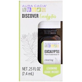 Aura Cacia, Discover Eucalyptus, Essential Oil, .25 fl oz (7.4 ml)