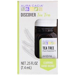 Aura Cacia, Discover Tea Tree, Pure Essential Oil, .25 fl oz (7.4 ml)