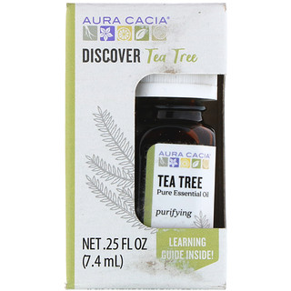 Aura Cacia, Discover Tea Tree, Pure Essential Oil, .25 fl oz (7.4 ml)