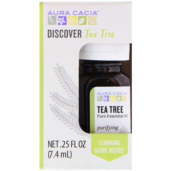 :Aura Cacia, Discover Tea Tree, 、25 fl oz (7、4 ml)