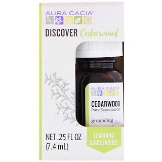 Aura Cacia, Discover Cedarwood, .25 fl oz (7.4 ml)