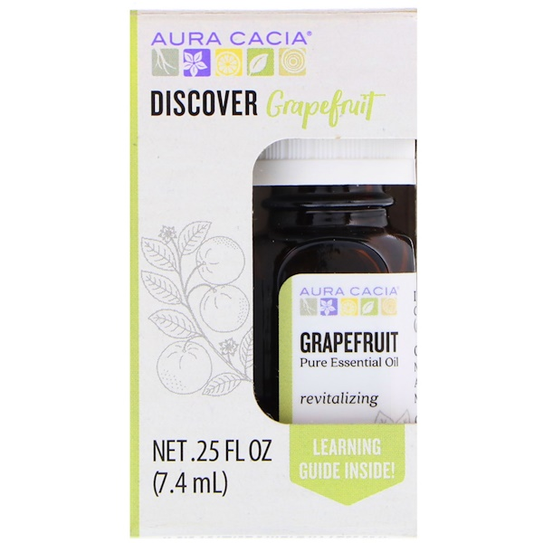 Aura Cacia, Discover Grapefruit, 、25 fl oz (7、4 ml)