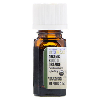 Aura Cacia, Pure Essential Oil, Organic Blood Orange, .25 fl oz (7.4 ml)