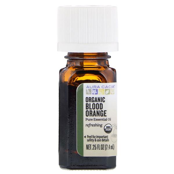 Aura Cacia, Pure Essential Oil, Organic Blood Orange, 、25 fl oz (7、4 ml)