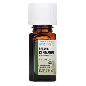 Аура Кация, Pure Essential Oil, Organic Cardamom, .25 fl oz (7.4 ml) отзывы