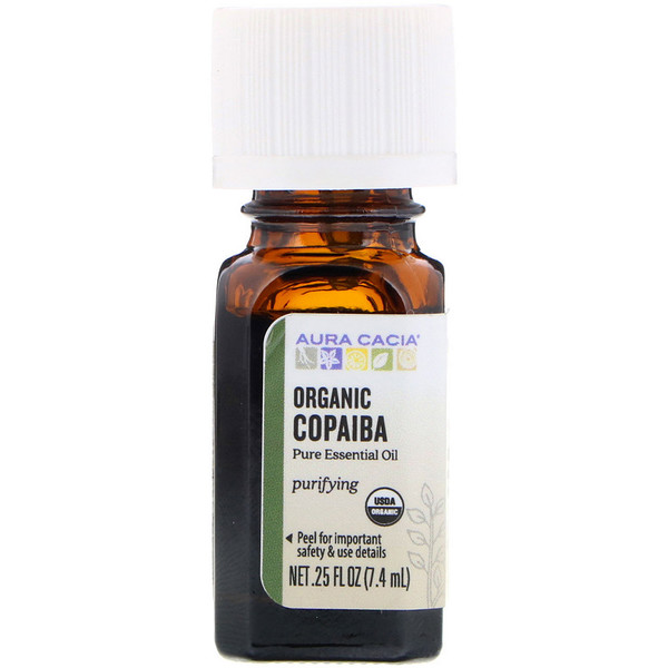 Pure Essential Oil, Organic Copaiba, .25 fl oz (7.4 ml)