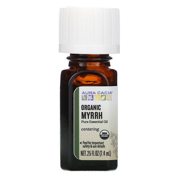 Pure Essential Oil, Organic Myrrh, .25 fl oz (7.4 ml)