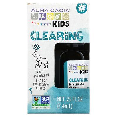 Aura Cacia Kids, Pure Essential Oil, Clearing, .25 fl oz (7.4 ml)