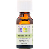 Отзывы о Aura Cacia, 100% Pure Essential Oil, Sweet Basil, .5 fl oz (15 ml)