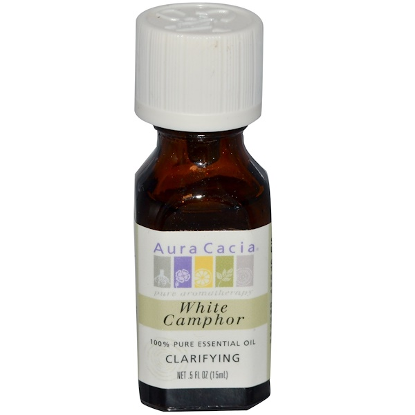 Aura Cacia, White Camphor, Clarifying, 0.5 fl oz (15 ml) (Discontinued Item)