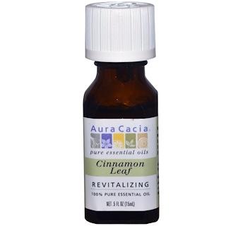 Aura Cacia, 100% Pure Essential Oil, Cinnamon Leaf, Revitalizing, .5 fl oz (15 ml)