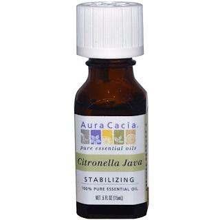 Aura Cacia, 100% Pure Essential Oil, Citronella Java, .5 fl oz (15 ml)