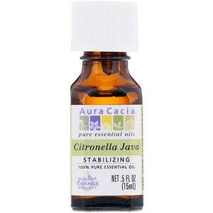 Аура Кация, 100% Pure Essential Oil, Citronella Java, .5 fl oz (15 ml) отзывы