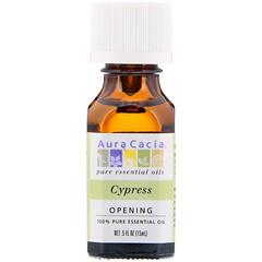Aura Cacia, 100% Pure Essential Oil, Cypress, 0.5 fl oz (15 ml)