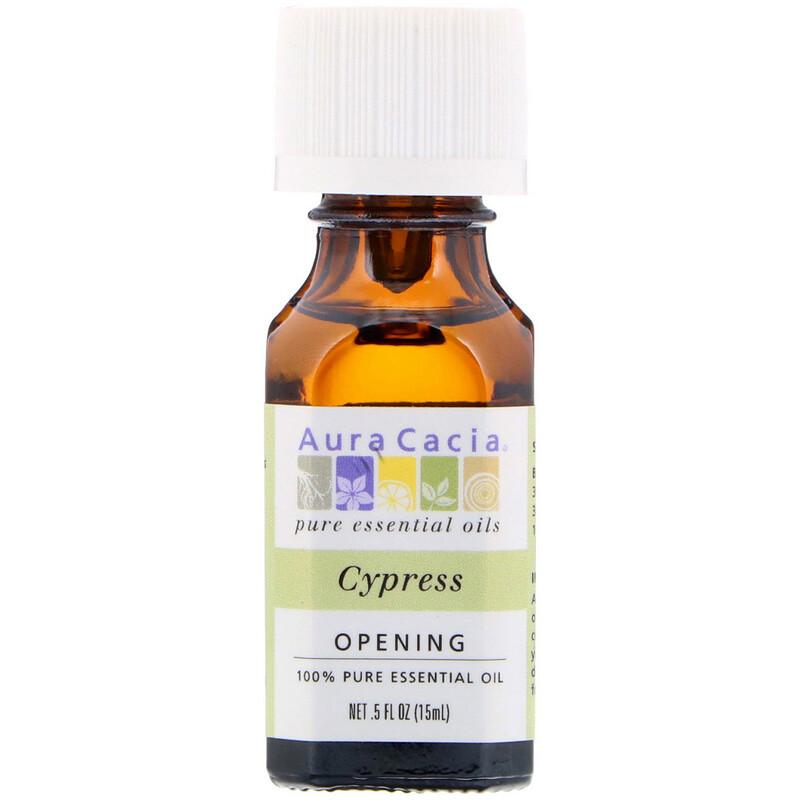 Чистое эфирное масло кипариса Aura Cacia, 0,5 жидкой унции (15 мл)