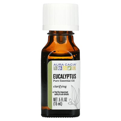 Aura Cacia Pure Essential Oil, Eucalyptus, 0.5 fl oz (15 ml)