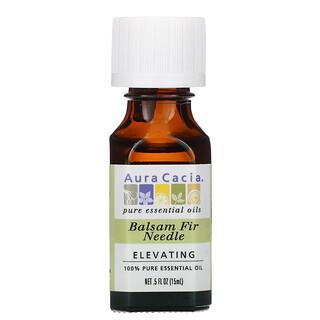Aura Cacia, 100% Pure Essential Oil, Balsam Fir Needle, 0.5 fl oz (15 ml)
