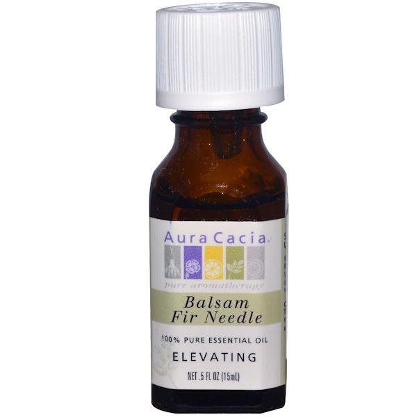 Aura Cacia, 100% натуральное эфирное масло, бальзам пихтовых иголок, Возвышающее .5 жидких унции (15 мл)