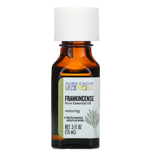 Aura Cacia, Pure Essential Oil, Frankincense, .5 fl oz (15 ml)