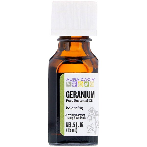 100% Pure Essential Oil, Geranium, .5 fl oz (15 ml)