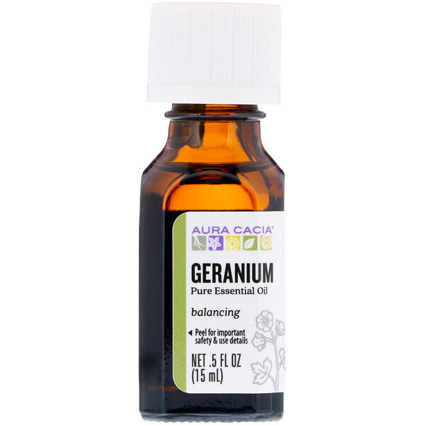 Pure Essential Oil, Geranium, .5 fl oz (15 ml)