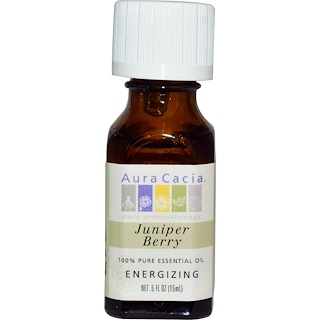 Aura Cacia, 100% Pure Essential Oil, Juniper Berry, .5 fl oz (15 ml)