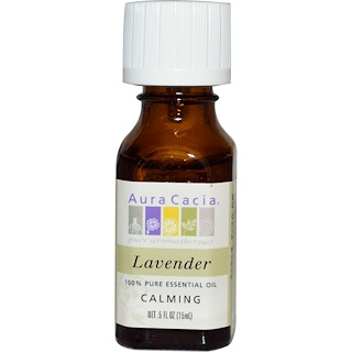 Aura Cacia, 100% Pure Essential Oil, Lavender, .5 fl oz (15 ml)
