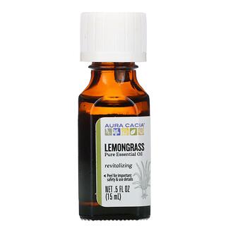 Aura Cacia, Pure Essential Oil, Lemongrass, 0.5 fl oz (15 ml)