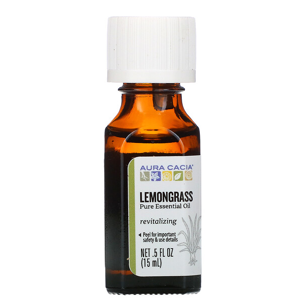 Pure Essential Oil, Lemongrass, .5 fl oz (15 ml)