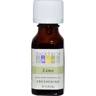 Aura Cacia, 100% Pure Essential Oil, Lime, .5 fl oz (15 ml)