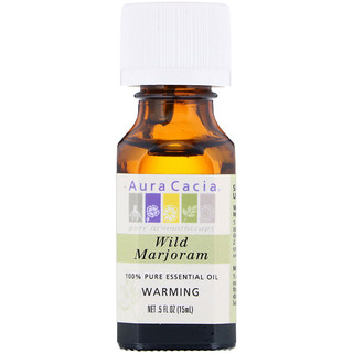 Aura Cacia, 100% Pure Essential Oil, Wild Marjoram, .5 fl oz (15 ml)