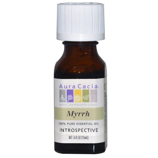 Aura Cacia, 100% Pure Essential Oil, Myrrh, .5 fl oz (15 ml)
