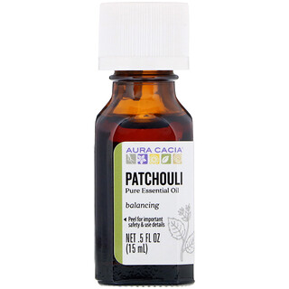 Aura Cacia, Pure Essential Oil, Patchouli, .5 fl oz (15 ml)