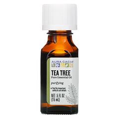 Aura Cacia, 純精油,茶樹,0.5 液量盎司(15 毫升)