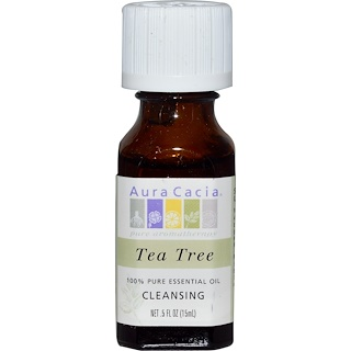 Aura Cacia, 100% Pure Essential Oil, Tea Tree, .5 fl oz (15 ml)